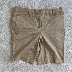 Lands' End uniform shorts size 16 tan